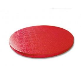 Base redonda roja 25 x 1