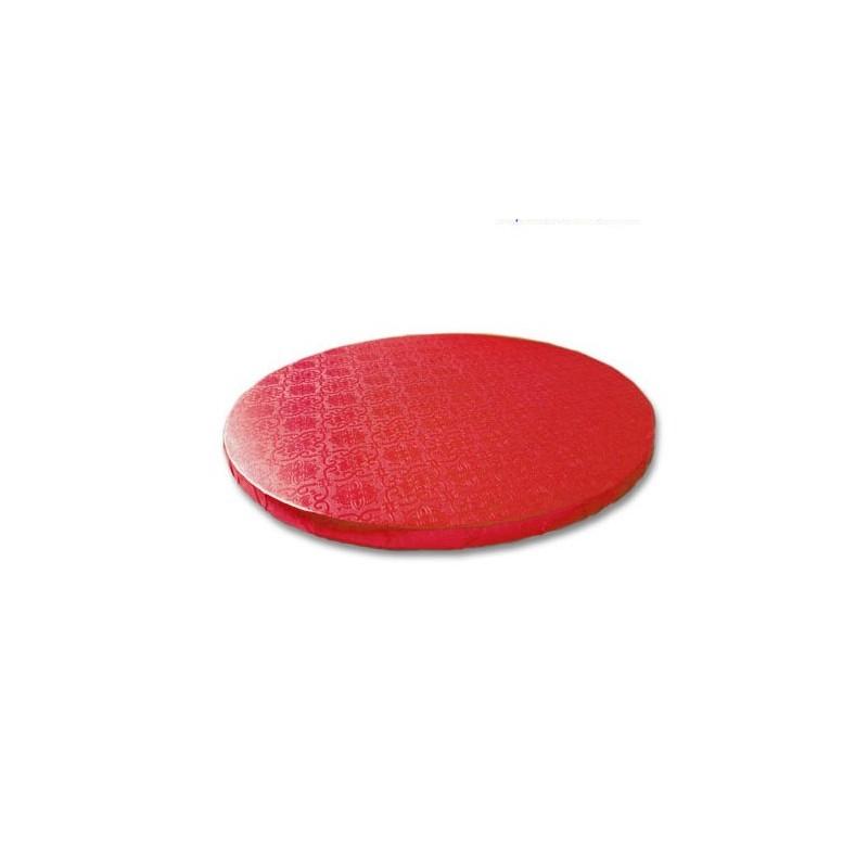Base redonda roja 30 x 1