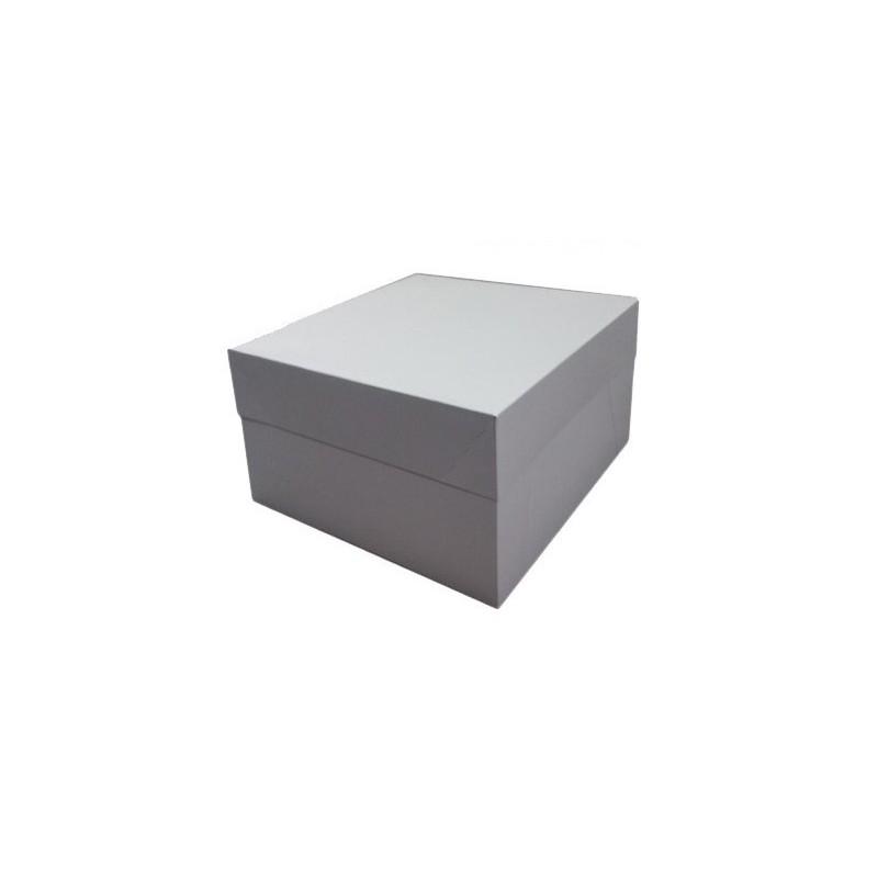 Caja tarta blanca 30x30x15