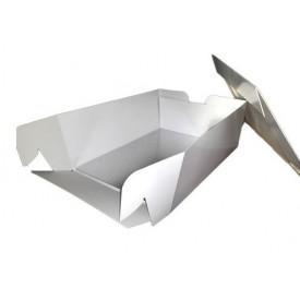 Caja Tarta Blanca Rectangular 30x40 + Base Rectangular 3 mm grosor