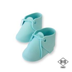 Cake Topper Zapatos de Bebé Azul 2 ud PME