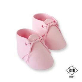 Cake Topper Zapatos de Bebé Rosa 2 ud. PME