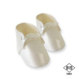 Cake Topper Zapatos de Bebé Nacarado 2 ud. PME