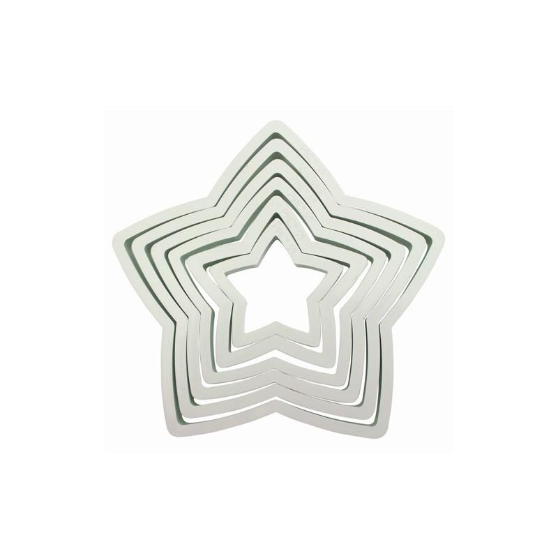 Cortadores Estrellas Plástico Set/ 6 PME