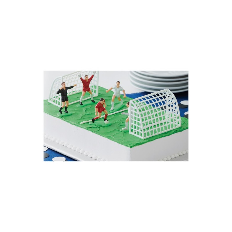 Set Decorativo Figuras de Fútbol 7 piezas Wilton