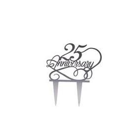 Cake Topper Acrílico 25 Aniversario