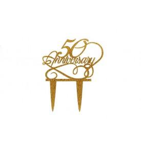 Cake Topper Acrílico 50 Aniversario