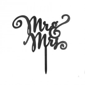 Cake Topper Acrílico Mr & Mrs 4