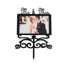 Cake Topper Con Foto Mr&Mrs