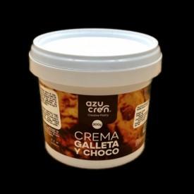 Crema de galleta y chocolate (oreo) 300 gr.
