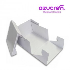 Caja Tarta Blanca Extra Fuerte 20x20x15 cm. Azucren