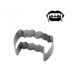 Cortador para galletas dientes de vampiro. Halloween