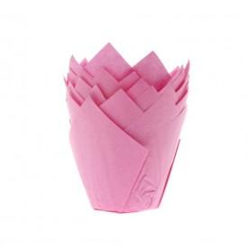 24 cápsulas de color rosa para muffins Artynnova