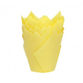 24 cápsulas de color amarillo para muffins Artynnova
