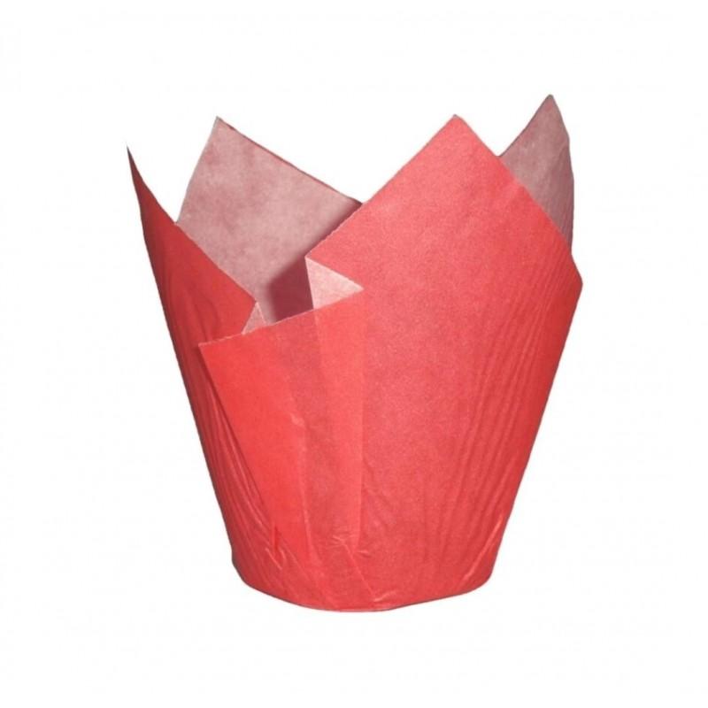 24 cápsulas de color rojo para muffins Artynnova