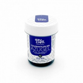 Colorante en Gel Azugel Color Azul Real. 35 gramos