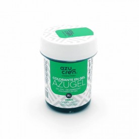 Colorante en Gel Azugel Color Verde. 35 gramos