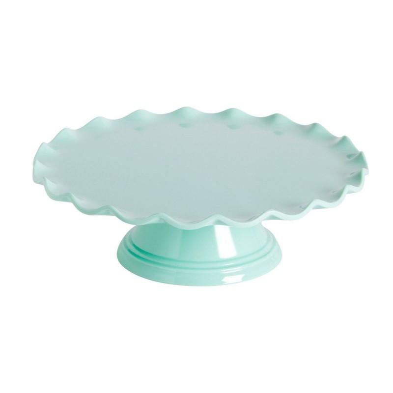 Stand con ondas para tartas. Color Verde Menta