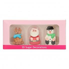 Figuras de Azúcar Navidad. 3 unidades.