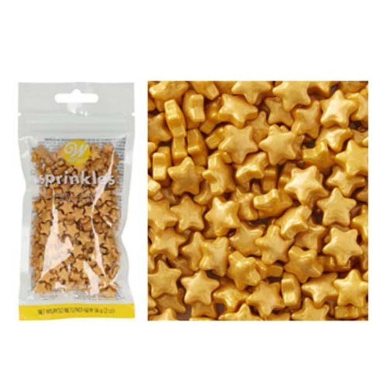 Sprinkles Estrellas Doradas. 56 gramos. Wilton.