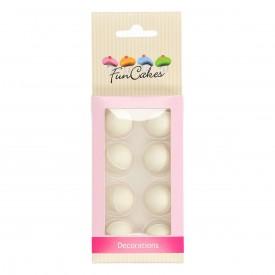 Perlas de Chocolate Blanco Fun Cakes. Set de 8 unidades