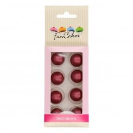 Bolas de Chocolate color Rubí de Fun Cakes. Set 8 unidades