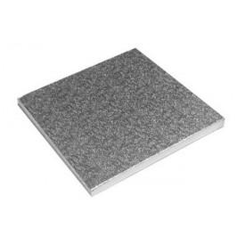 Base Cuadrada Plata 25x25cm (12mm alto)