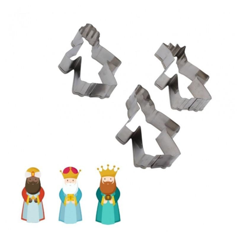 Set 3 Cortadores de Acero Reyes Magos