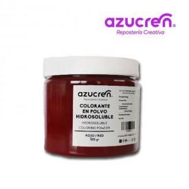 Colorante en Polvo Hidrosoluble Rojo Azucren 100 gramos.