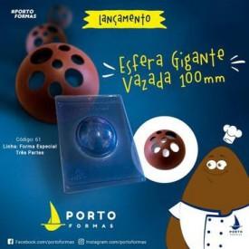 Molde de Acetato para Chocolate. Esfera Gigante