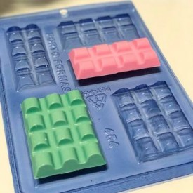 Molde de Acetato para Chocolate. Tableta de Chocolate