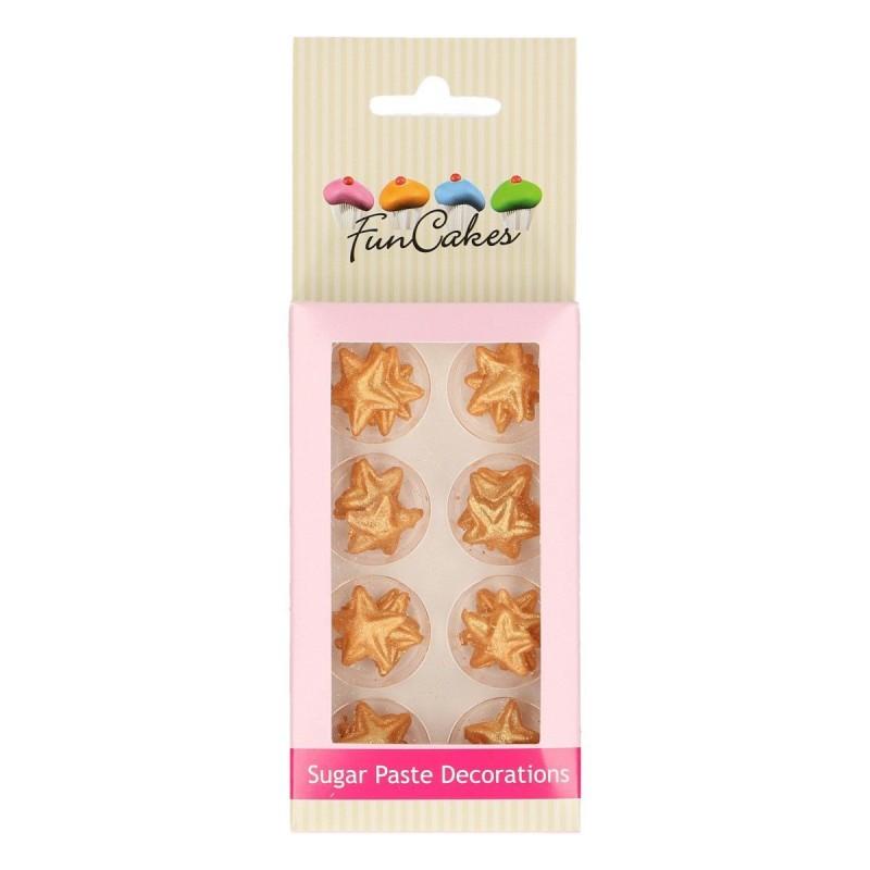 Estrellas Doradas. Pasta de Azúcar. 24 Unidades