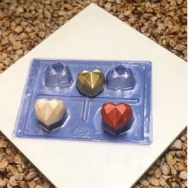 Molde para Chocolate. Trufa de Corazón de Diamante.Porto 03