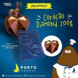 Molde para Chocolate. Corazón de Diamante. 200 gr.