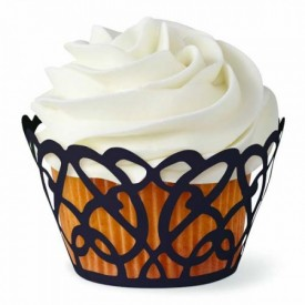 Wrappers Cupcakes Negro. 18 ud.