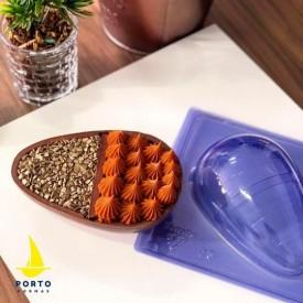 Molde para Chocolate Especial 3 Partes. Huevo 3D Para Rellenos. PF94