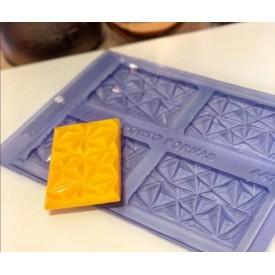 Molde de Acetato. Barra de Chocolate 3D. Porto 447