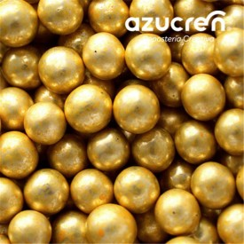 Perlas Oro Metalizadas 8 mm