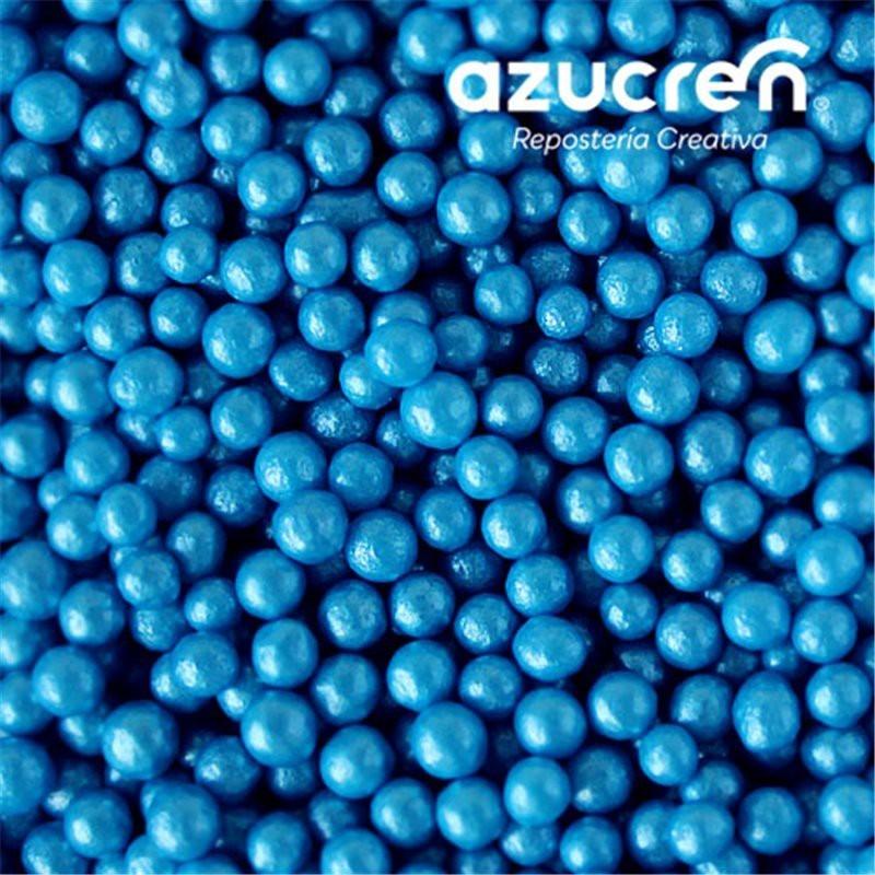 Perlas Azúcar Azul 4 mm