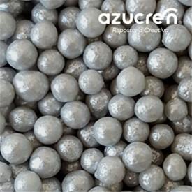 Perlas Azúcar Plata/gris 7 mm