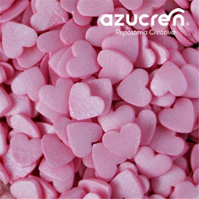 Corazones Azúcar Rosa