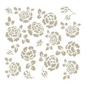 Stencil Mini Deco Fondo 036 Rosas