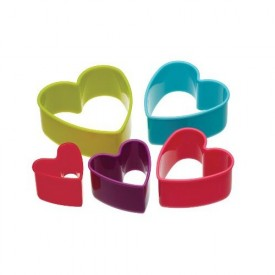 Set 5 Cortadores de Galletas Corazón