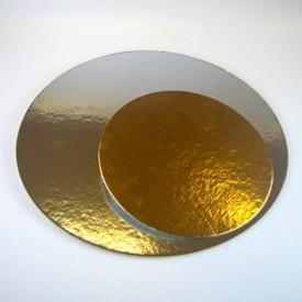 Base Redonda Oro/plata 20cm cartón