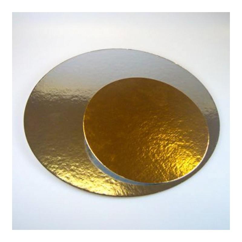 Base Redonda Oro/plata 25cm cartón