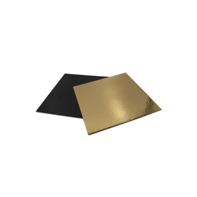 Base Cuadrada Oro/Plata 20x20cm