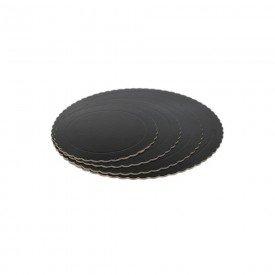 Base Redonda Negra 25cm (3mm alto)
