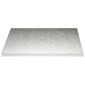 Base Rectangular Plata 30x35cm (12mm alto)