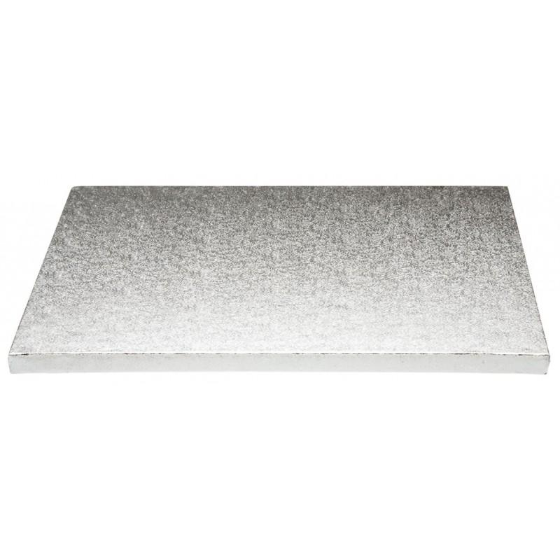 Base Rectangular Plata 35x40cm (12mm alto)