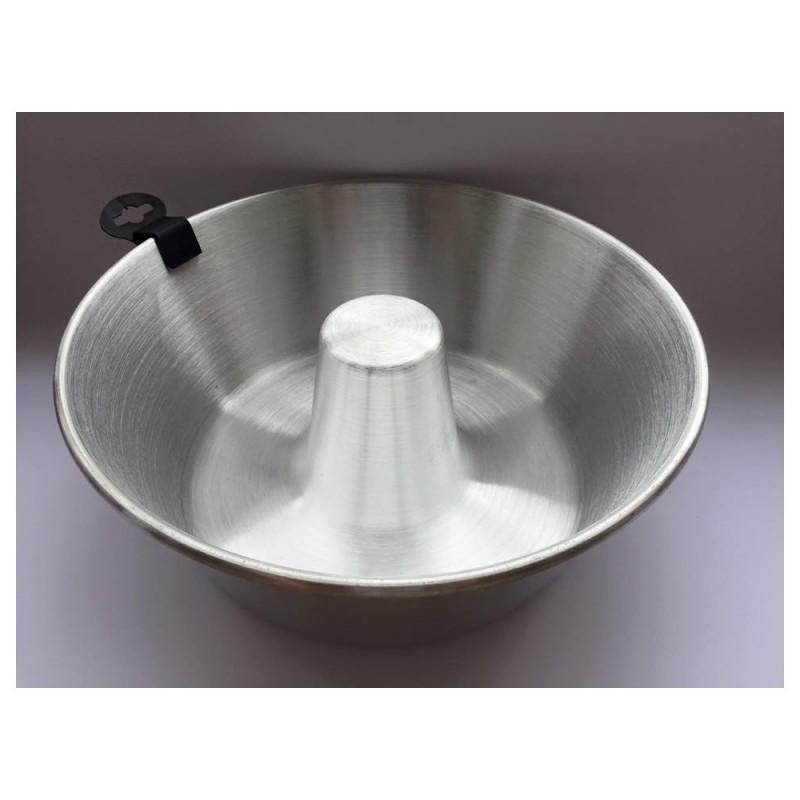 Molde Aluminio Pudding - Savarín 24 cm